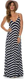 EIGHT SIXTY STRIPE MAXI DRESS   Swell.com