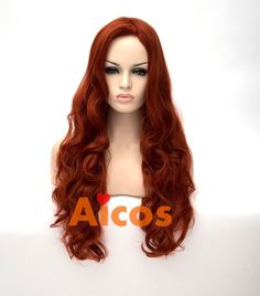 Find More Synthetic Wigs Information about 80cm Long Sexy Jessica Mermaid Copper Red Body Wavy Women Party Cosplay U Part Wig,High Quality party wear for women,China wigs for sale cheap Suppliers, Cheap wig men from Aicos Cosplay Wig on Aliexpress.com