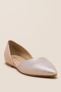 CL by Laundry Metallic D'Orsay Flat