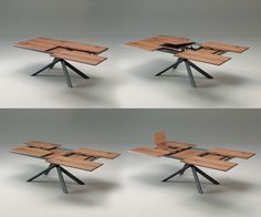 Modern Designtable From Ozzio. Extremely Transformable Design From 200 X  100 Cm To 254 X 138 Cm.