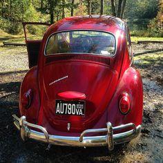 Ruby red!  #LaneRussellVW #VintageVW #Volkswagen #aircooled #aircooledvw #german #vw #vws #vdub #vdubs #bug #beetle #thesamba #vwbus #vwallday #vwdaily #vwlife #vwlove
