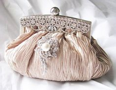 Bridal Wedding Bag Clutches, earrings, necklaces, hair