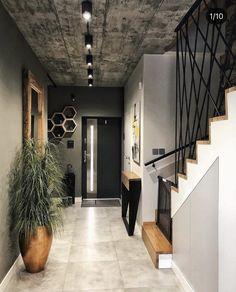 Hallway Designs, Foyer Design, Home Room Design, Interior Design Living Room, Living Room Designs, House Design, Loft Design, Home Entrance Decor, Home Decor