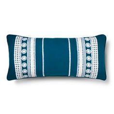 """Tamerin Decorative Pillow (12""""x26"""") Blue - Mudhut™"""