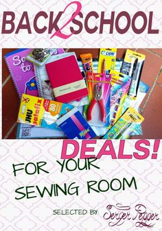 Back to school deals for your sewing room: insider's guide to choosing between discounted school supplies anything you will need to be ready to sew or craft any project or idea. Including a coupon code for Labor day for Serger Pepper Designs - only on http://SergerPepper.com