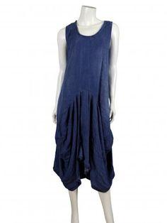 Damen Kleid in A-Form, jeansblau