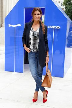 Look blazer azul Casual Chic Outfits, Classic Outfits, Work Fashion, Fashion 2017, Fashion Outfits, Fashion Trends, Looks Style, Casual Looks, My Style
