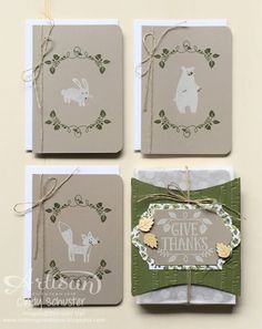 nutmeg creations: Stampin' UP Artisan Blog Hop - Thankful Forest Friends