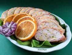 AranyTepsi: Márványcsirke Hungarian Recipes, Hungarian Food, Salmon Burgers, Oreo, Sausage, Bacon, Menu, Tasty, Ethnic Recipes