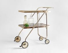 Vintage Bar Cart Mid Century Modern Retro Shelf by Hindsvik