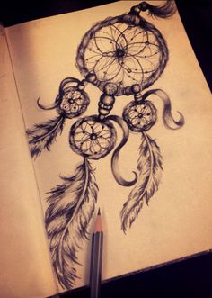 Dreamcatcher pencil Sketch.