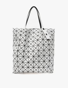 559a536b7073 BAO BAO ISSEY MIYAKE   Prism Basic Tote in White. Laptop Bag ...