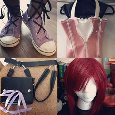 All of my Kairi stuff!!! I'm stoked to try it all on for the first time!!! 15 year old me would be screaming with joy right now ;P  See you tomorrow at @anime_evolution ^.^ #kingdomhearts #kairi #cosplay #wip #kingdomheartscosplay #kairicosplay #handmade #sewing #wig #ardawigscanada #squareenix #disney