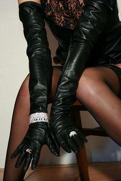 leather opera jeweled gloves | Keep the Glamour | BeStayBeautiful