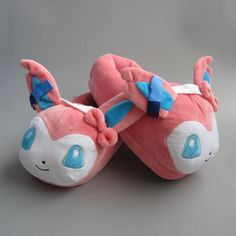 Want to wear a comfy slippers from Pokemon with an Sylveon design? - This is perfect for any Pokemon Collectors! - While Supplies Last! Limit 10 Per Order Please allow 4-6 weeks for shipping due to hi
