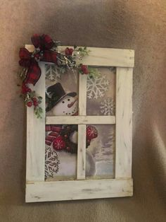 Diy Christmas Crafts To Sell, Snowman Christmas Decorations, Christmas Signs Wood, Rustic Christmas, Christmas Projects, Christmas Art, Holiday Crafts, Christmas Ornaments, Creation Deco
