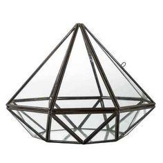 Black Metal & Glass Diamond - Hobby Lobby - $15.00