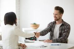 Smiling millennial partners handshaking in office thanking for successful teamwork #paid, , #AFFILIATE, #Affiliate, #partners, #millennial, #successful, #handshaking