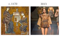 Mosaic from the Monreale Cathedral, c. 1170 and Dolce and Gabbana, 2013