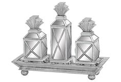 S/4 Mirrored Vanity Set on OneKingsLane.com