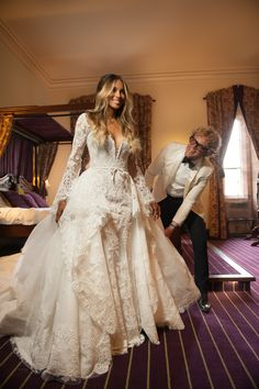 Peter Dundas on Making Ciara's One-of-a-Kind Wedding Dress