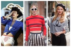 They are a great summer classic: here is a complete guide to wear stripes! Summer Fashion Trends, Nyc Fashion, Summer Fashion Outfits, Fashion Over 40, Ladies Ray Bans, Kylie, Nicole Richie, Blue Bikini, Workout