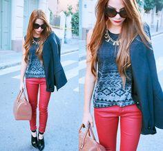 Prada Sunglasses, Zara Necklace, Zara Blazer, Zara Pants, Furla Candy Bag, Mango Shoes