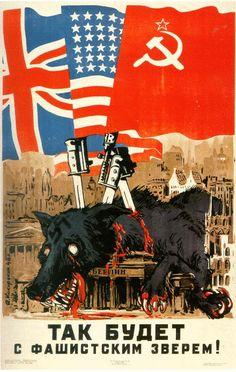 Propaganda aliados, segunda guerra mundial.