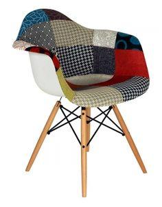 Fauteuil style Eames DAW Patchwork Inspiré par Charles Eames