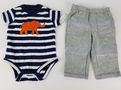 Carter's Baby Boys' 2 Piece Bodysuit and Pants Set 6 Months