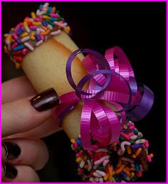 Tuile cookies that can have candy placed in the center, or better yet, give them as a bday gift with $$ inside! (just make sure you tell the bday to look before they eat LOL)