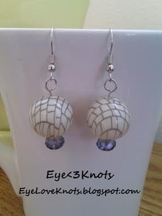 Lightweight Round Cream and Gray 1920's - 1930's Inspired Dangle Earrings. Hypoallergenic! Sterling Silver Option Available!!