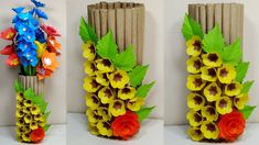 Paper Flower Vase Making Paper Flower Vase, Flower Vase Making, Paper Vase, Flower Vases, Orange Paper, Coffee Colour, Paper Crafts, Cover, Bud Vases