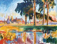 Johannes 'Johan' Dijkstra (Groningen 1896-1978) Kalkovens, Ten Boer - Kunsthandel Simonis en Buunk, Ede (Nederland).