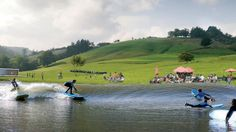 The UK's first inland surfing destination is coming to Snowdonia. Surf Snowdoina and Conwy Adventure Leisure are bringing a Wavegarden to a small village in the Conwy Valley called Dolgarrog. Surf Pool, Wave Pool, Bmx, Surfing Destinations, Surf News, Planning Permission, Snowdonia, Paris, Sport