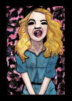 Ilustração Rita Ora Aquarela