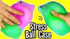 DIY Stress Ball Phone Case?! WEIRDEST DIY SLIME PHONE CASE! FAIL!