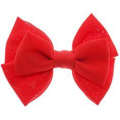 Mini Red Double Bow Hair Clip ($4.01) ❤ liked on Polyvore featuring accessories, hair accessories, red bow hair accessories, hair clip accessories, barrette hair clip, red hair accessories and bow hair accessories