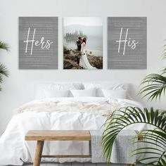 Custom wedding vows gift, set of 3 canvas prints, as fits perfectly with the wedding first dance song lyrics. You choose what words are needed, and we'll arrange them so its sure to look Pretty Perfect! Wedding Vow Art, Wedding Renewal Vows, Wedding Wall, Wedding Frames, Wedding Rustic, Wedding Ideas, Wedding Engagement, Beach House Signs, Name Wall Art