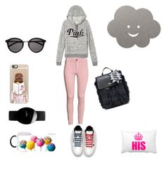 """""""Untitled #1152"""" by giselaturca on Polyvore featuring Karl Lagerfeld, Victoria's Secret, Yves Saint Laurent, Casetify, Rado and LIND DNA"""