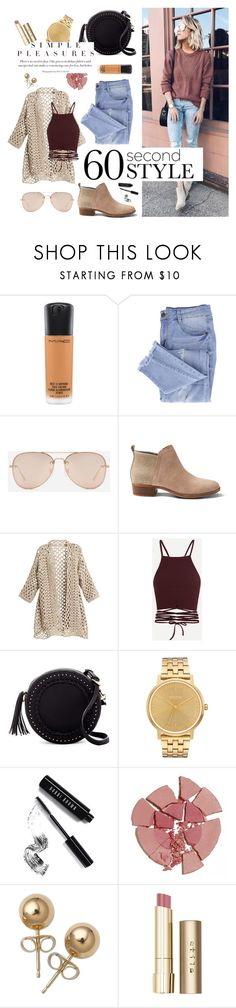 """""""Simple Pleasures"""" by tophercouture ❤ liked on Polyvore featuring MAC Cosmetics, Essie, CHARLES & KEITH, TOMS, Urban Expressions, Nixon, Bobbi Brown Cosmetics, Charlotte Tilbury, Bling Jewelry and Stila"""