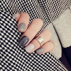 A manicure is a cosmetic elegance therapy for the finger nails and hands. A manicure could deal with just the hands, just the nails, or Short Nail Designs, Cool Nail Designs, Grey Nail Designs, Nail Design For Short Nails, Shellac Designs, Natural Nail Designs, Colorful Nail Designs, Hair And Nails, My Nails