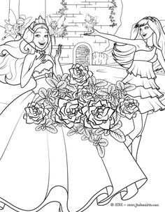 Barbie Horse Coloring Pages See More Un Joli Coloriage Inedit De Popstar Et Princesse Avec Beau Bouquet Fleurs