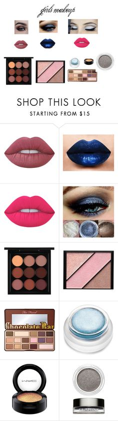 """""""girls make up"""" by hope-april ❤ liked on Polyvore featuring beauty, Lime Crime, LASplash, MAC Cosmetics, Elizabeth Arden, Too Faced Cosmetics, rms beauty, Clarins and organize"""