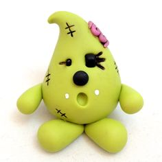 Zombie PARKER Figurine Polymer Clay Whimsical Character by KatersAcres