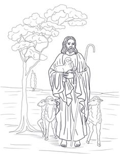 Jesus is Our Shepherd Coloring page