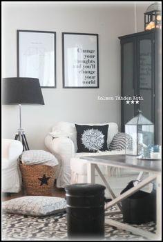 Kolmen Tähden Koti: Olkkarissa white&black