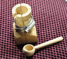 Salt spoon and jig by Margaret Garrard