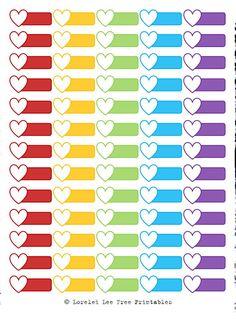 Lorelei Lee's Plan-Bar: Valentine's Day is coming - Herzerlboxen und Labels Arc Planner, Planner Pages, Life Planner, Happy Planner, Planner Ideas, Daily Planner Printable, Printable Planner Stickers, Name Stickers, Filofax