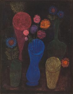 Paul Klee. Flowers in Glasses, 1925
